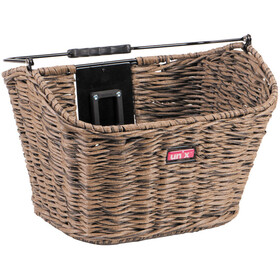 Unix Manolo Front Wheel Basket KlickFix brown